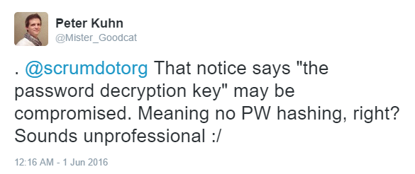 No password hashing, unprofessional.png