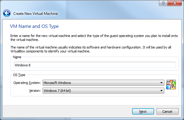 Installing Windows 8 Developer Preview in a virtual machine